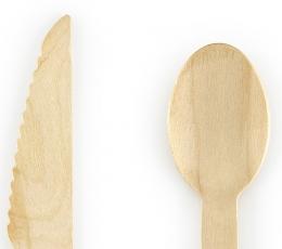 Stalo įrankių rinkinys, medinis su aukso žvaigždutėmis (6-iems asmenims) 1