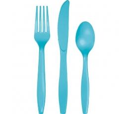 Stalo įrankių rinkinys, vandenyno spalvos (24 vnt.)