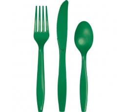 Stalo įrankių rinkinys, žalias (24 vnt.)