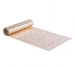 Stalo takelis iš blizgių žvynelių, šviesiai auksinis (28x300 cm) 1