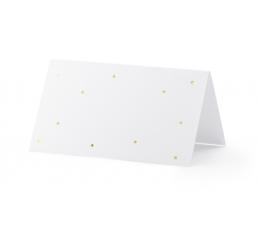 """Stalo-vardų kortelės """"Auksiniai taškeliai"""" (10 vnt.)"""