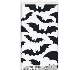 """Staltiesė """"Juodi šikšnosparniai"""" (137x213 cm) 0"""