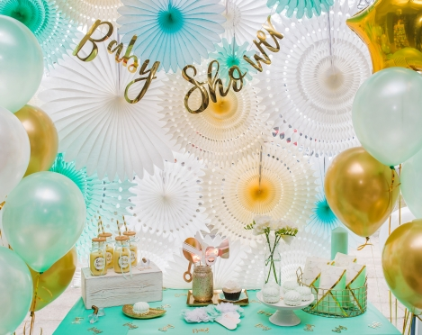 """Stilingas ir kitoks """"Baby Shower"""" vakarėlio dekoras"""