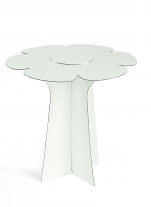 """Stovelis-tortinė """"Gėlė"""", baltas (30X29 cm)"""