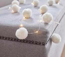 """Švieselių LED girlianda """"Balti kamuoliukai"""" (2 m) 1"""