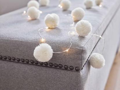 """Švieselių LED girlianda """"Balti kamuoliukai"""" (2 m)"""