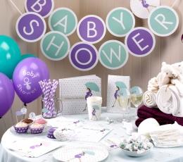 "Taurių dekoracijos ""Baby Shower skėtukai"" (10 vnt.) 1"