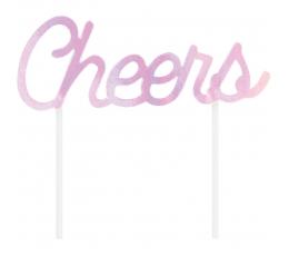 "Torto dekoracija ""Cheers', perlamutrinė"
