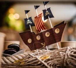 "Torto dekoracija ""Piratų laivas"" (16,5x20 cm) 1"