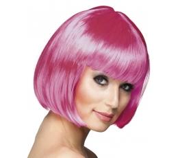 Trumpų plaukų perukas, rožinis