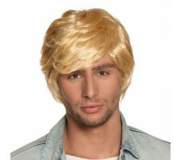 Trumpų plaukų perukas, šviesus vyriškas