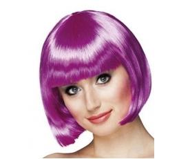 Trumpų plaukų perukas, violetinis