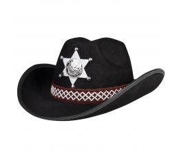 Vaikiška šerifo skrybėlė, juoda