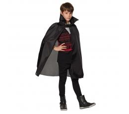 Vaikiškas vampyro apsiaustas, juodas (75 cm)