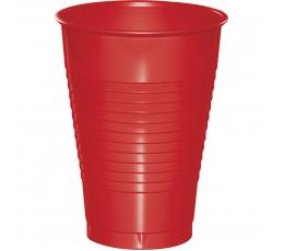 Vakarėlio puodeliai, raudoni (20 vnt./355 ml)