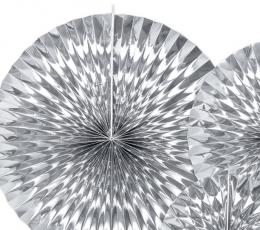 Vėduoklės, sidabrinės blizgios (3 vnt.) 1