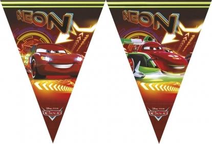 """Vėliavėlių girlianda """"Cars Neon"""""""