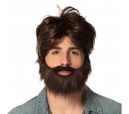 Vyruko perukas su barzda, rudas