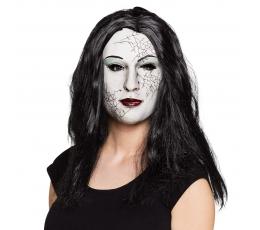 Zombės kaukė su plaukais