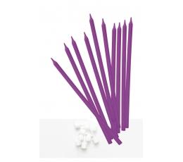 Žvakutės, ilgos violetinės (10 vnt.)