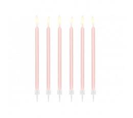 Žvakutės, rausvos (12 vnt./14 cm)