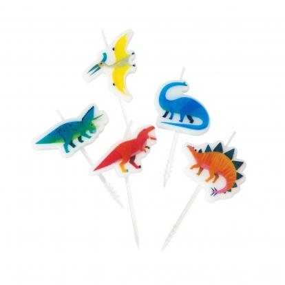 """Žvakutės-smeigtukai """"Dinozaurai"""" (5 vnt.)"""