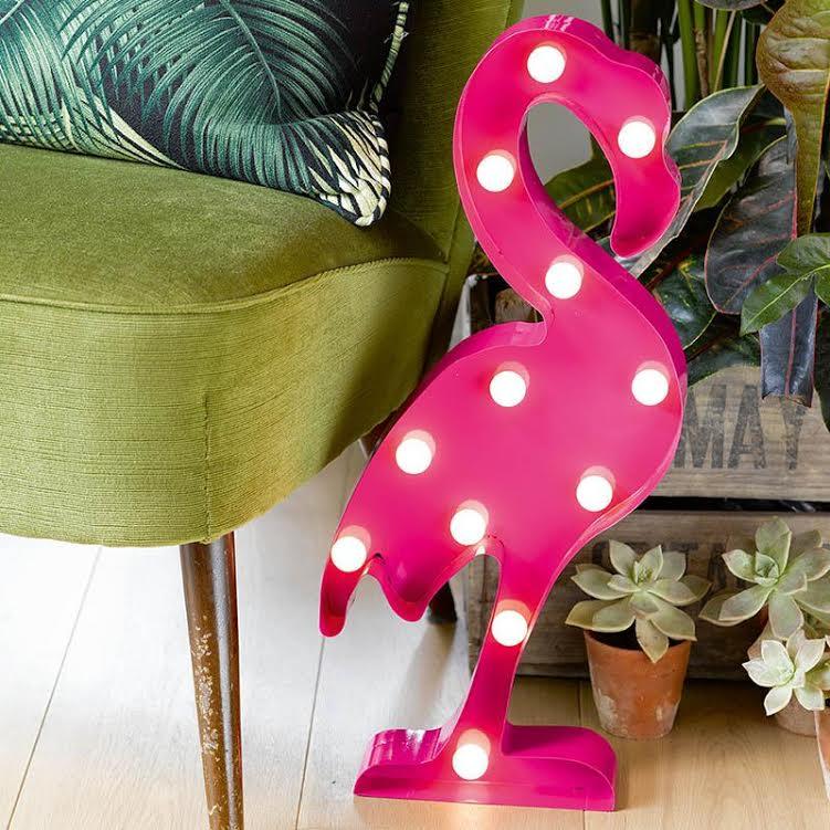 """Šviečianti dekoracija """"Flamingas"""" (52 cm)"""