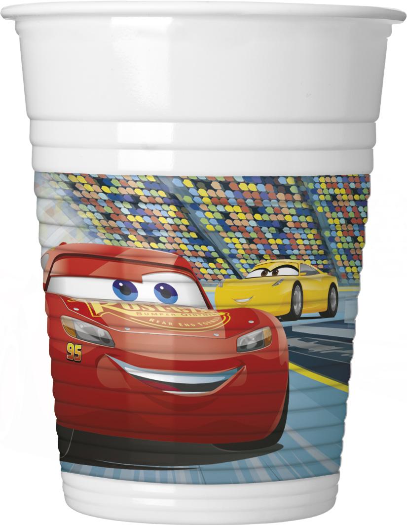"""Plastikiniai puodeliai """"Ratai 3"""" (8 vnt./200 ml)"""