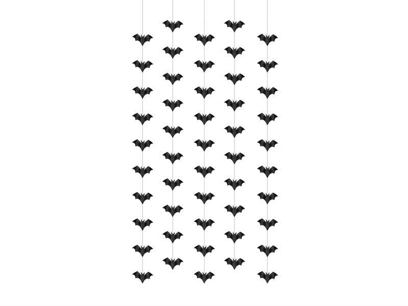 """Kabančios dekoracijos """"Šikšnosparniai"""" (5 vnt./1 m)"""