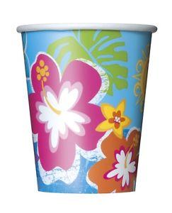 """Puodeliai """"Havajų gėlės"""" (8 vnt./266 ml)"""