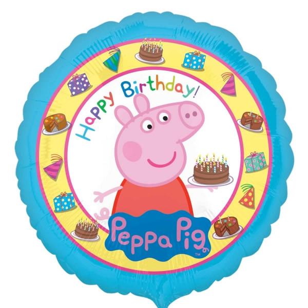"""Folinis balionas """"Peppa Pig"""" su gimimo diena, 43 cm"""