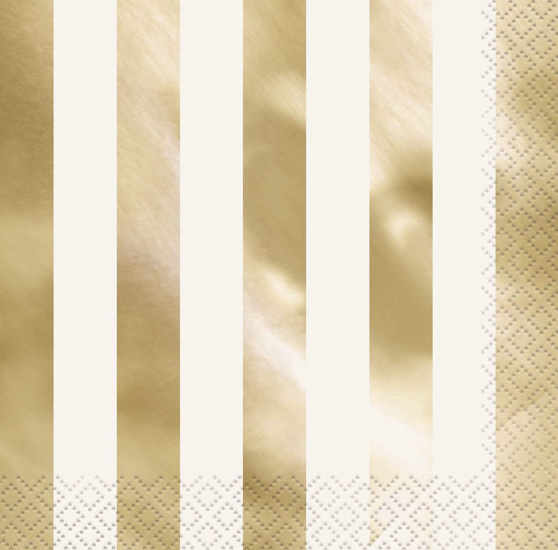 """Servetėlės """"Aukso blizgis"""", dryžuotos (16 vnt.)"""