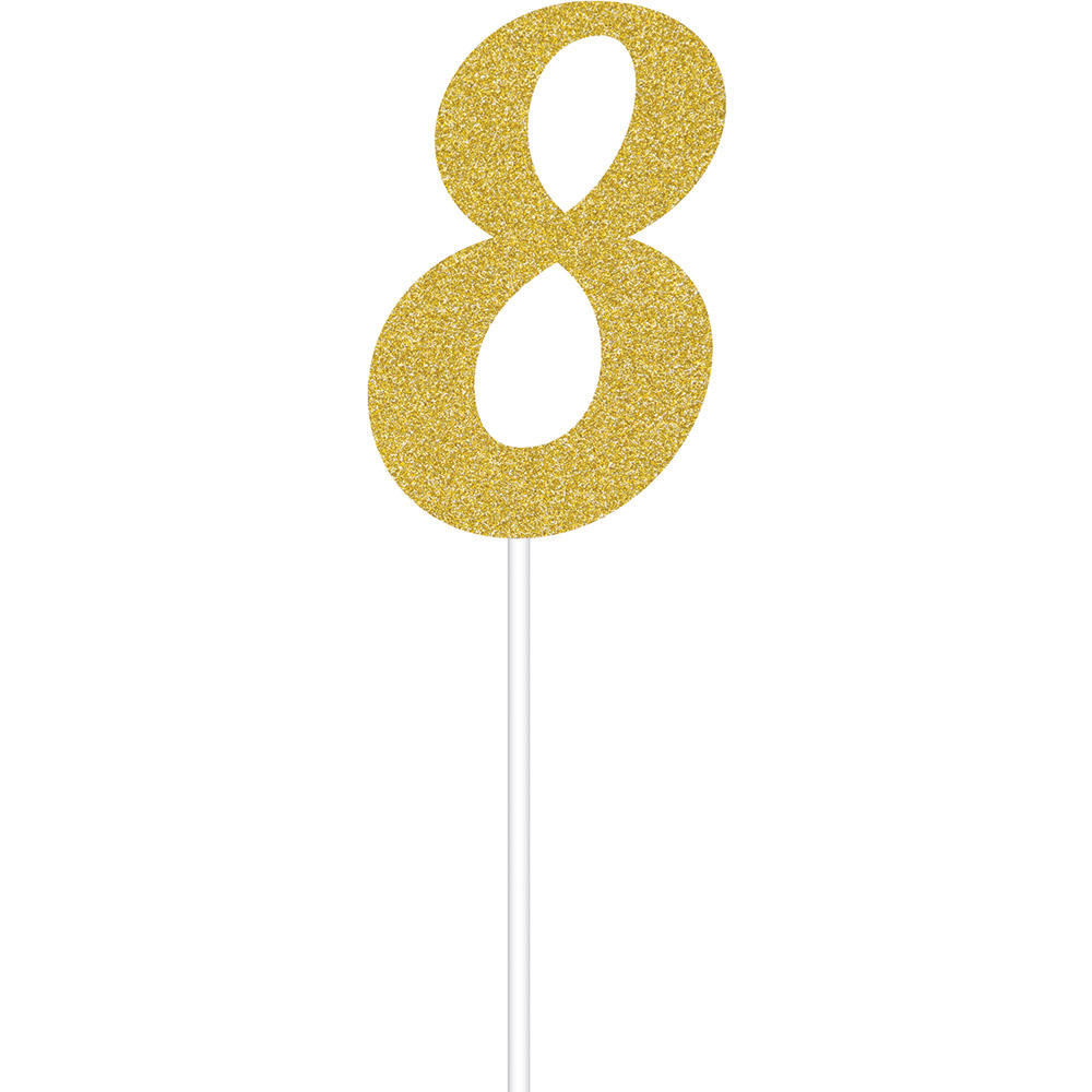 "Torto dekoracija ""8"", auksinė blizgi"