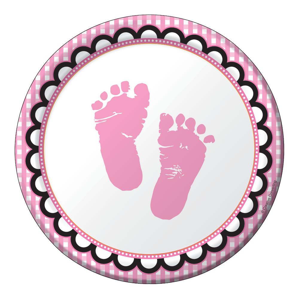"""Lėkštutės """"Mažylės pėdutės"""" (8 vnt./18 cm)"""