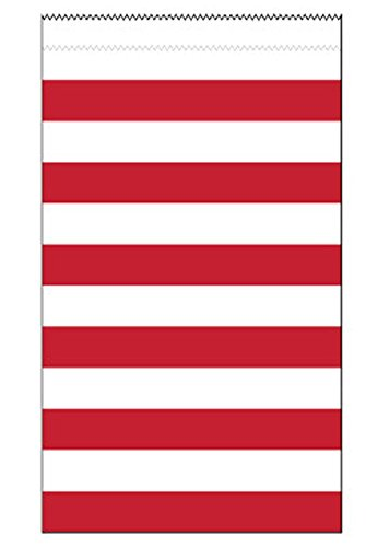 Dovanų maišeliai, raudoni dryžuoti (15 vnt.)