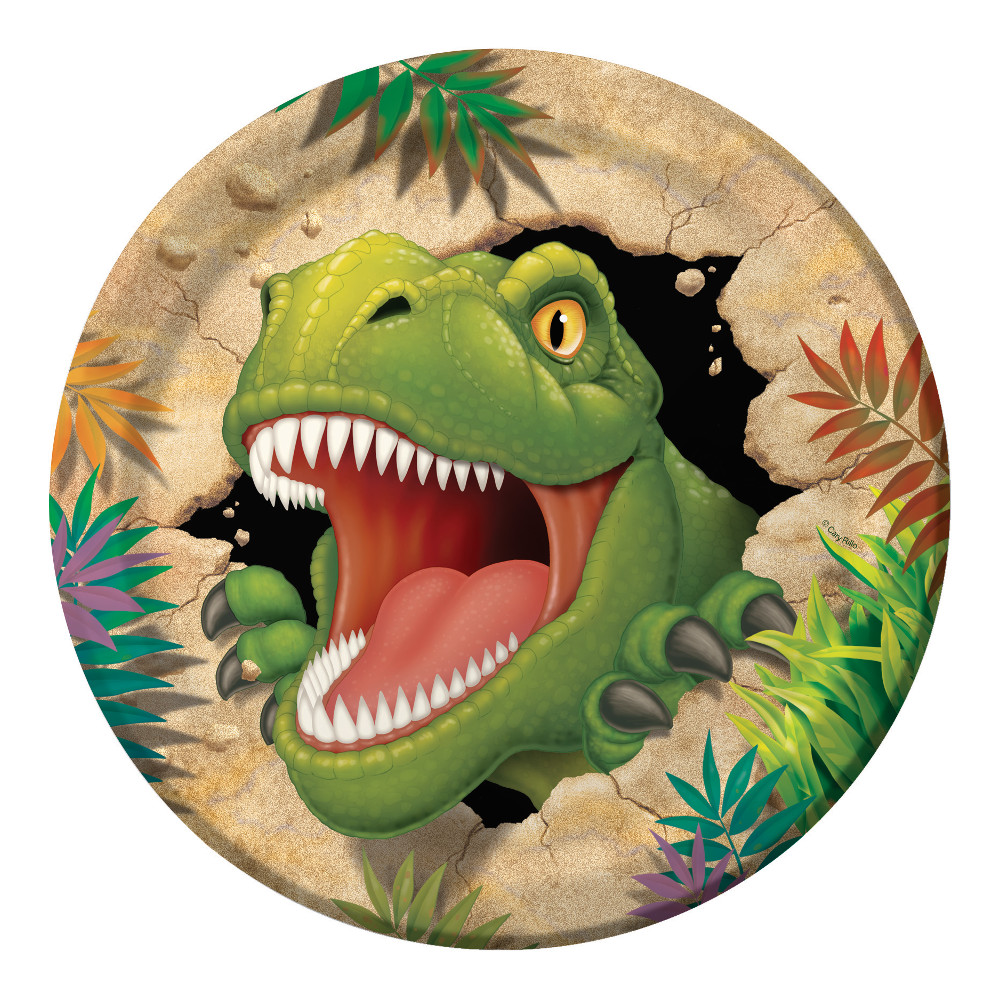 """Lėkštutės """"Dinozauras Dinas"""" (8 vnt./22 cm)"""