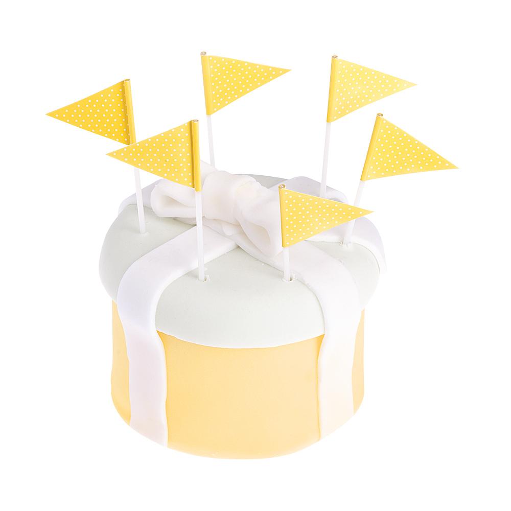 Smeigtukai-vėliavėlės, geltonai taškuotos (25 vnt.)