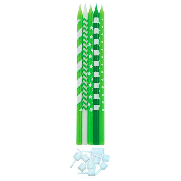 Žvakučių rinkinys, žaliai baltas (10 vnt./15,5 cm)