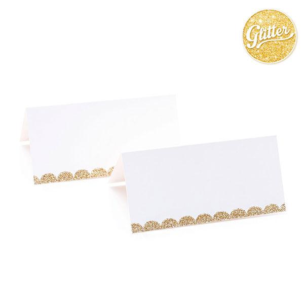 """Vardų kortelės """"Auksinis kraštelis"""" (10 vnt.)"""