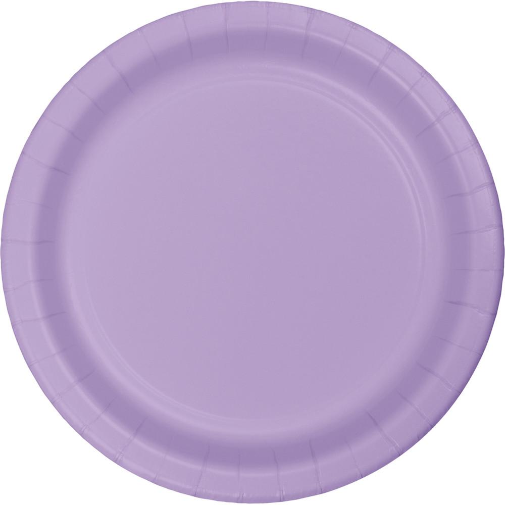 Lėkštutės, alyvinės (24 vnt./22 cm)