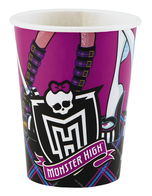 "Puodeliai ""Monster High"" (8 vnt./266 ml)"