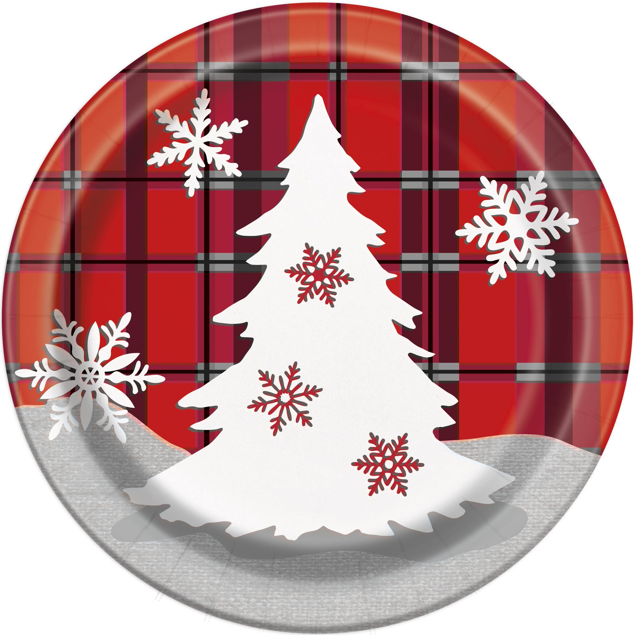 """Lėkštutės """"Languotos Kalėdos"""" (8 vnt./17 cm)"""