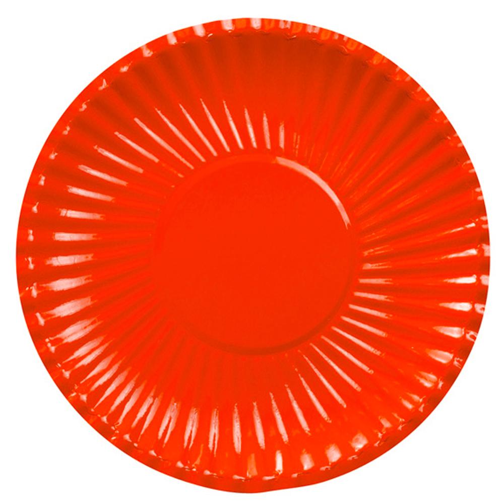 Lėkštutės-padėkliukai, raudoni (8 vnt./ 29 cm)