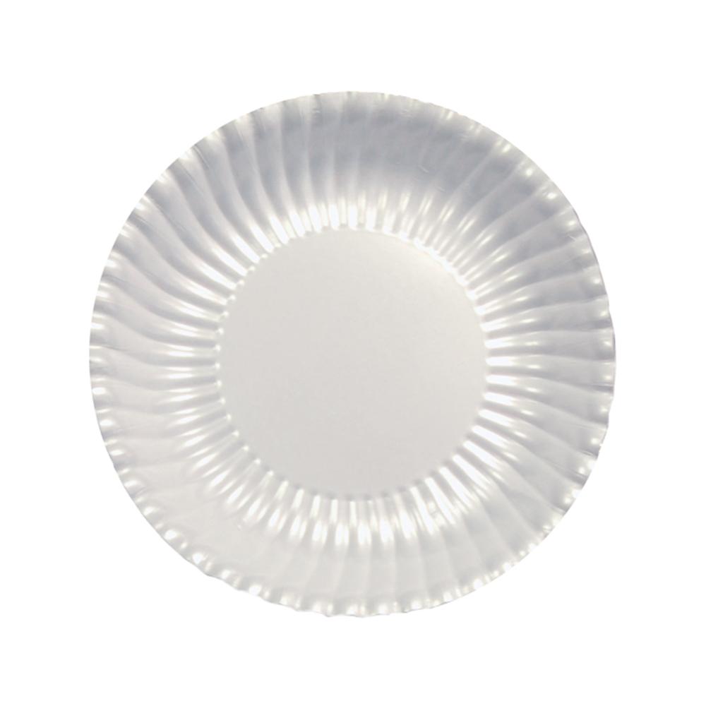 Lėkštutės, banguotos perlamutrinės (10 vnt./18 cm)