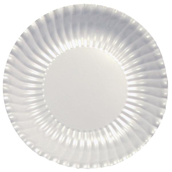 Lėkštutės-padėkliukai, balti perlamutriniai (10 vnt./ 29 cm)