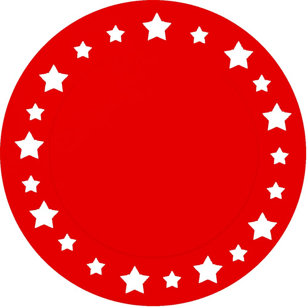 Kartono padėkliukai, raudoni (6 vnt./33 cm)