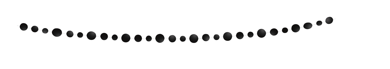 Girlianda, juodi apskritimai (2,74 m)