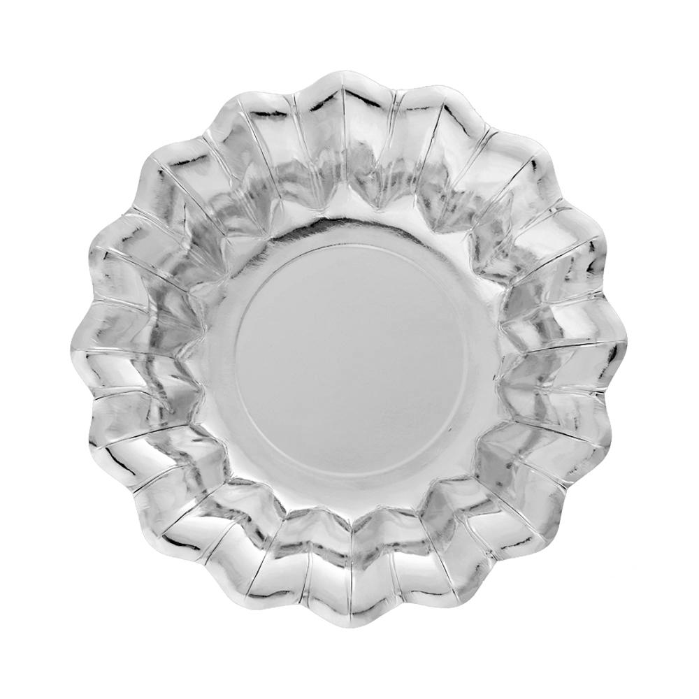 Dubenėliai-gėlės, sidabriniai (8 vnt./24 cm)