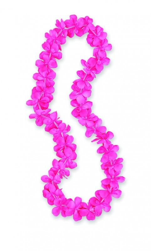 """Gėlių girlianda """"Havajai"""", rožinė (1 m)"""