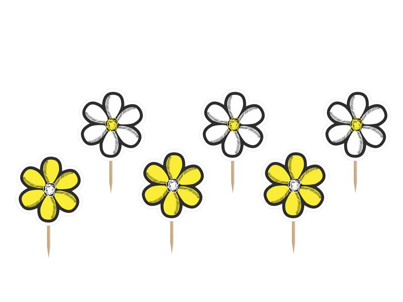"""Smeigtukai-dekoracijos """"Gėlytės"""" (6 vnt.)"""